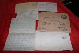 Lot De 5  Lettres De Poilus  Adressées à Un électricien Du Casino De Vichy; - 1914-18