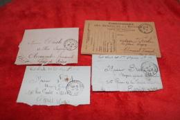 Lot De 4 Cartes-lettres D'un Officier Du 53ème RA - 1914-18