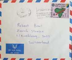 Kuwait 1983 Letter To Switzerland - Koweït