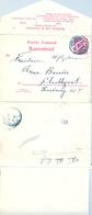 ALEMANIA , 1900 , KARLSRUHE - STUTTGART , ENTERO POSTAL CIRCULADO , LLEGADA - Cartas