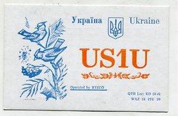 QSL CARD  - AK 322777 Ukraine - Kiev - Radio Amateur