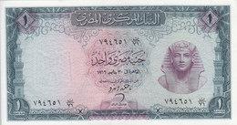EGYPT 1 EGP 1966 P-37 Sig/ ZENDO #10  AU/ Choice UNC */* - Egypt