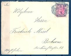 ALEMANIA , 1903 , SOBRE CIRCULADO A BOCHUM , LLEGADA AL DORSO , MAT. DEUTSCH GABEL - Cartas