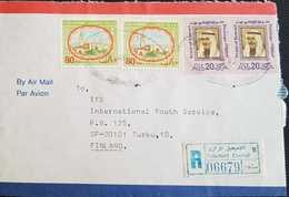 Kuwait 1985 Registered Letter To Finland. - Koweït