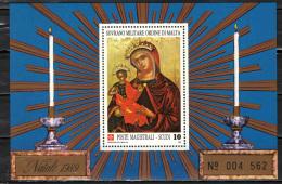 SMOM - 1989 - MADONNA DI COSTANTINOPOLI - CHIESA DEI SANTI FAUSTINO E GIOVITA A VITERBO - SOUVENIR SHEET - MNH - Malte (Ordre De)
