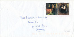 Great Britain Cover Sent To Denmark 2004 ?? Topic Stamps (the Cover Is A Little Bended) - 1952-.... (Elizabeth II)