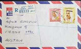 Kuwait 1971 Registered Letter To Austria. - Kuwait