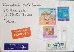 Kuwait 1994 Registered Express Letter To Finland - Kuwait