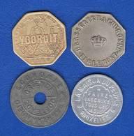 Belgique  4  Jetons - Monetary / Of Necessity