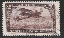 French Morocco, Scott # C6 Used  Biplane, 1927 - Marocco (1891-1956)