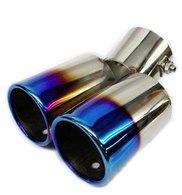 Titanium Look Dual Muffler Cutter - Cars