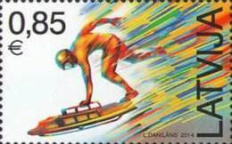 Latvia 2014 Mih. 891 Olympic Winter Games In Sochi. Skeleton MNH ** - Latvia