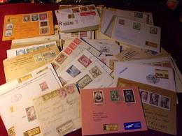 LOT DE 80 'ENVELOPPES   RECOMMANDE  D'AUTRICHE  / REPUBLIK OSTERREICH - Collections
