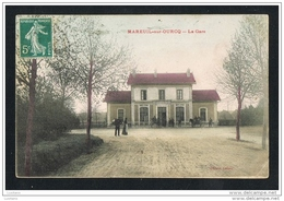 Mareuil Sur Ourcq - La Gare RAILWAY STATION Timbre - France ( 2 Scans ) - Autres Communes