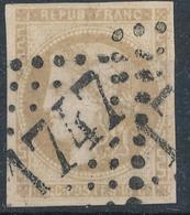N°43 BORDEAUX VARIETE FILETS ET CARTOUCHE - 1870 Bordeaux Printing