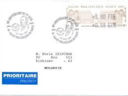 2001. France - Moldova(Nancy), By Prioritaire Post - France