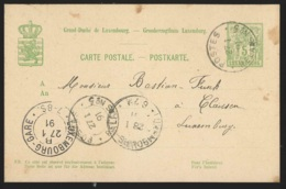 Ep 5c Vert De Mamer Càd POSTES/RELAIS N°5  /1891 Pour Luxembourg - Stamped Stationery