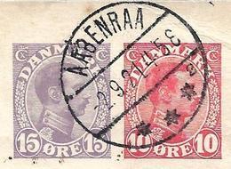 DENMARK - 1921 15o+10o Compound Postal Card - Scarce! - Aabenraa To Hamburg, Germany - Entiers Postaux