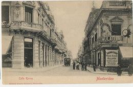 Montevideo Calle Rincon  Edit Almera Tram à Cheval Horlogerie Diamants Bijouterie  Spangenberg - Uruguay