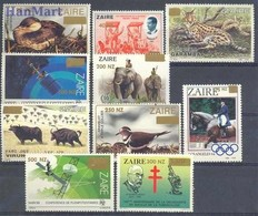 Congo Kinshasa/Zaire 1994 Mi 1101-1110 MNH ( ZS6 ZRE1101-1110 ) - Vogels