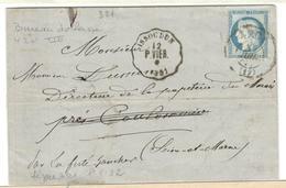 2492 - Oblitération Bureau De Passe 4201 - Marcophilie (Lettres)