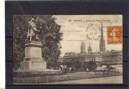 76207 . ROUEN . STATUE DE PIERRE CORNEILLE . LL  . (recto/verso)   ANNEE 1930 . CANON . - Rouen