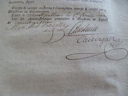 Sur Loi Du 10/12/1790 Juges De Paix Justice Autographe Cambacérès Montpellier - Handtekening