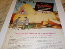 ANCIENNE PUBLICITE FROMAGE BONDEL DE NORMANDIE 1962 - Posters