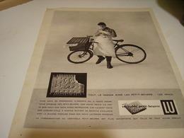 ANCIENNE PUBLICITE BISCUIT PETIT BEURRE  LU 1958 - Posters