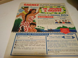 ANCIENNE PUBLICITE  MARGARINE ASTRA CONCOURS 1958 - Posters