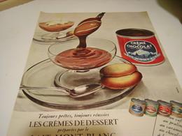 ANCIENNE PUBLICITE CREMES DE DESSERT  LAIT MONT BLANC 1958 - Posters