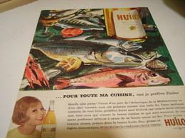 ANCIENNE AFFICHE  PUBLICITE  HUILOR ARACHIDE 1961 - Posters
