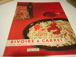 ANCIENNE PUBLICITE PATE ALIMENTAIRE RIVOIRE & CARRET 1960 - Posters