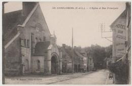 CPA 28 COULOMBS L' Eglise Et Rue Principale - Otros Municipios