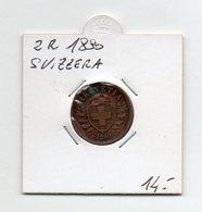 Svizzera - 1890 - 2 Rappen - Vedi Foto - (FDC9565) - Suiza