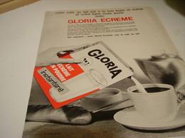 ANCIENNE PUBLICITE  LAIT ECREME GLORIA 1964 - Posters