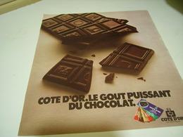 ANCIENNE AFFICHE PUBLICITE CHOCOLAT DE COTE D OR  1977 - Posters