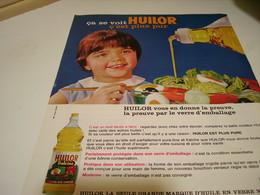 ANCIENNE AFFICHE  PUBLICITE C EST PLUS PUR  HUILOR  1964 - Posters