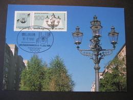 Deutschland BRD Maxicard 1991- Maxicard - Weltgaskongress - Maximumkarten (MC)