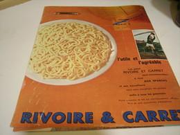 ANCIENNE PUBLICITE PATE ALIMENTAIRE RIVOIRE & CARRET 1962 - Posters
