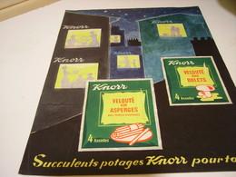 ANCIENNE PUBLICITE VELOUTE POTAGE SOUPE  DE KNORR 1955 - Posters