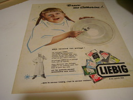 ANCIENNE PUBLICITE SOUPE LIEBIG 1955 CATHERINE - Posters