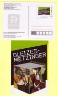 PAP Entier L´Adresse Musée De La Poste, Gleizes Metzinger Cubisme Peinture Art, Femme à Une Fenêtre, Le Goûter - Postal Stamped Stationery