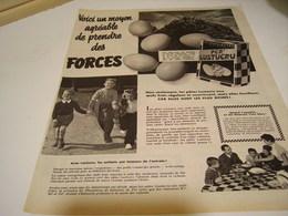 ANCIENNE PUBLICITE PATE ALIMENTAIRE OEUF FRAIS LUSTUCRU 1954 - Posters