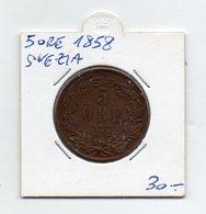 Svezia - 1858 - 5 Ore - (FDC9572) - Svezia