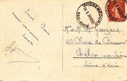 CP Affr Y&T 235 Obl WISSEMBOURG Du 14.6.34 Adressée à Chalon Sur Saône - Marcophilie (Lettres)