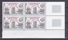 N° 2170 150ème Anniversaire De L'Ecole Navale: Bateau Borda: Bloc De 4Timbres  Neuf Sans Charnière - Unused Stamps