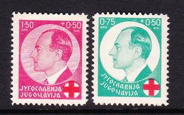 Yugoslavia SG 347-348 1936 Red Cross Fund,mint Hinged - 1931-1941 Kingdom Of Yugoslavia