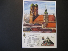 Deutschland BRD Maxicard 1987- Maxicard Papst Johannes Paul II In München - Maximumkarten (MC)
