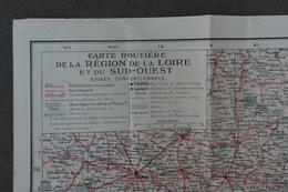 Carte Routière De La Région De La Loire Et Du Sud-Ouest - Cartes Routières
